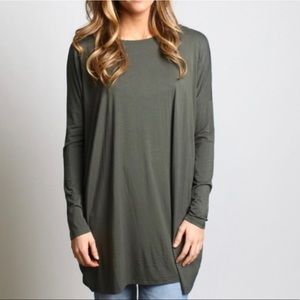 Olive Piko Tunic or Dress Like New